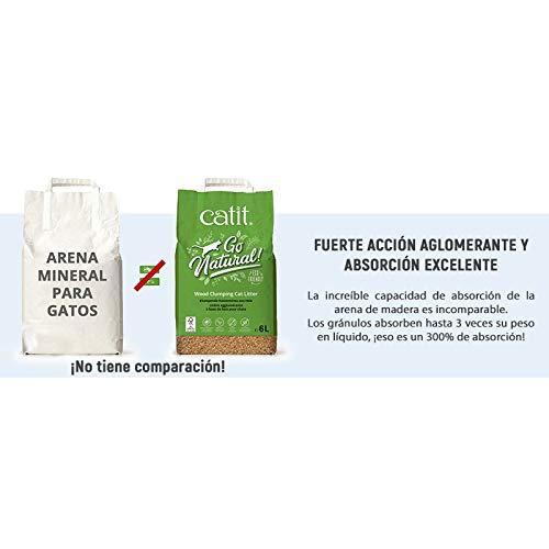 Utiliza arena ecológica para el arenero de tu gato