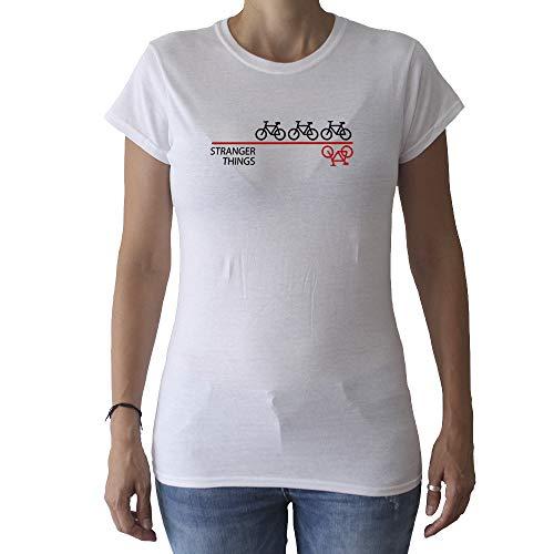 GAMBA TARONJA Stranger Things - Camiseta - Chica - Bicicleta