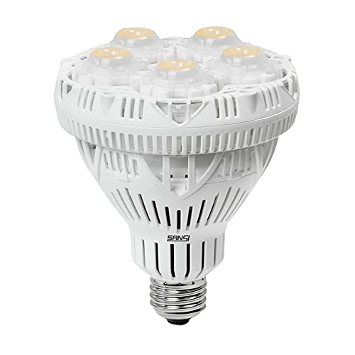 SANSI Grow Light Bulb with COC Technology, Full Spectrum 24W Grow Lamp (300 Watt Equivalent) with Optical Lens for High PPFD, Perfect for Seeding and Growing of Indoor Plants, Flowers and Garden