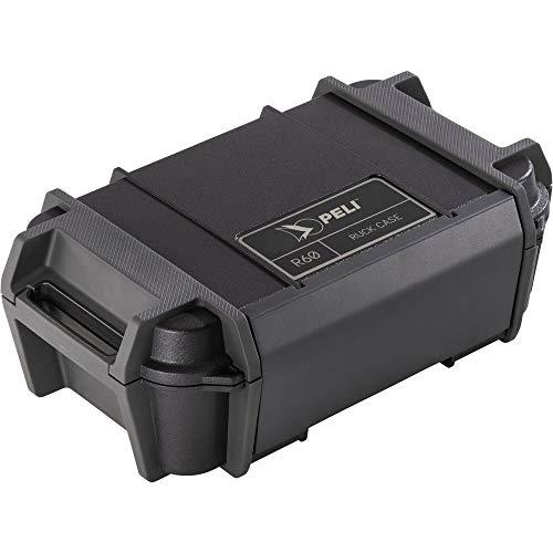 PELI R60 Ruck Schutzbehälter, wasserdichte Aufbewahrungslösung für kleine elektr. Geräte und Werkzeuge bei Outdoor-Abenteuern, IP68 Wasserdicht und staubdicht, 2,32L Fassungsvermögen, Farbe: Schwarz
