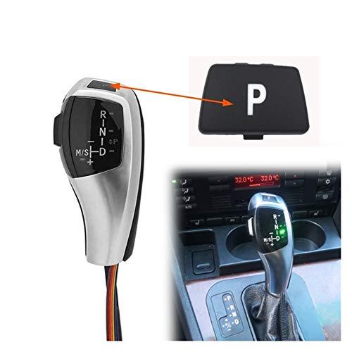Pomelli Leva Cambio LED manopola del Cambio Automatico della Testa di Shifter Leva for BMW X1 E84 Z4 E89 1 3 Serie 7 E81 E82 E87 E88 E90 E93 E38 E91E92 (Colore : Silver B)