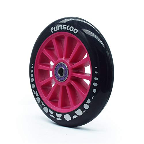 DUNRU Ruedas Scooter 2PCS 125mm * Rueda de Scooter de 24 mm/Ruedas de Patinaje de Velocidad en línea con Patines 125 Neumático Grande 125mm Rodas Ruedas De Scooter (Color : Pink)