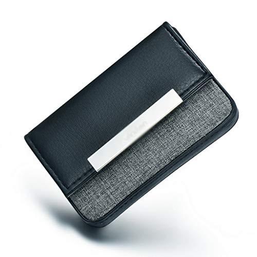 Business card holder Carteras, monederos y tarjeteros Estuche para Tarjetas de Visita de Alta Gama de Negocios de Metal de Cuero Creativo Tarjetero Simple de Acero Inoxidable para Hombres
