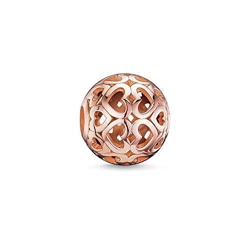 Thomas Sabo Damen-Bead Herz Karma Beads 925 Sterling Silber 750 rosegold vergoldet K0018-415-12