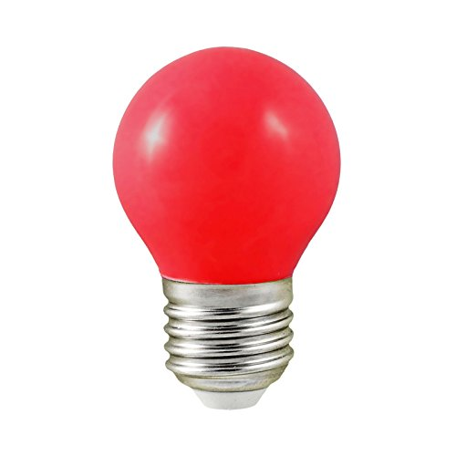 Vision-EL 77618B Ampoule LED, Aluminium/Polycarbonate, E27, 1 W, Rouge