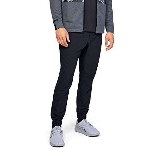 Under Armour, Pantaloni Sportivi da Uomo, Uomo, Pantaloni, 1329273, Nero Medio Heather (001)/Nero, S