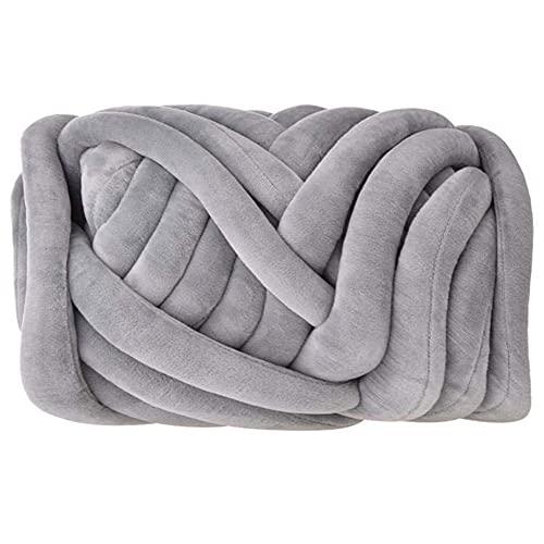 Tablecloth Hilo grueso tejido manual, hilo grueso y redondo supersuave, hecho a mano, manta de punto grueso, lavable a máquina, súper suave, hecho a mano, mantas, bufanda, suéter