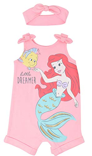 Disney Princess Little Mermaid Ariel Baby Girls Romper and Headband Set 18 Months