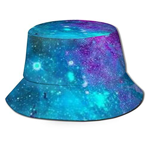 GAHAHA Fischerhüte für Herren, blau, Weltraum, lila, Fischermütze, Wandern, tragbar, UV-Schutz, Unisex, faltbar, Sommerhut