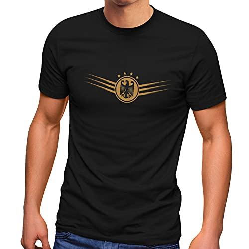 MoonWorks® Camiseta para hombre, diseño de Alemania con águila Federal 2021, Germany Black, L