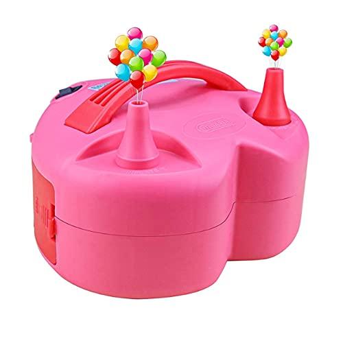 GYAM Bomba de Globo eléctrico, Bombas de Globo en Forma de corazón, inflador de Globo de Boquilla Dual para Fiesta de Boda de Boda y decoración del Festival