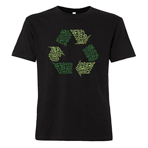 ShirtWorld Recycling Bike - Heren T-shirt