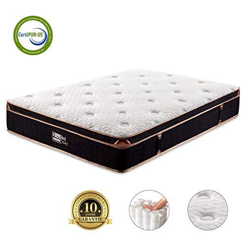 BedStory 7 Zonen Taschenfederkernmatratze 140x200x27cm, Premium Tonnentaschenfederkernmatratze härtegrad H3 mit 3D Memory Foam, ergonomische Matratze für erholsamen Schlaf, 10 Jahre Garantie