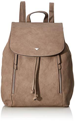 TOM TAILOR Rucksack Damen Carol, Beige (Taupe), 24x38x10 cm, TOM TAILOR Rucksackhandtasche, Damenrucksack,handtasche rucksack damen