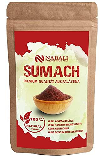 NABALI FAIRKOST Spice Sumacc Sumac de Ottolenghi - 100% natural, aromático, tradicional, fresco, oriental I sin conservantes I vegano (50 g)