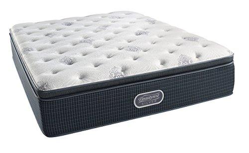 Simmons Beautyrest Silver Plush Pillow Top Mattress, AirCool Gel Memory Foam, Pocketed Coil Technology, Queen