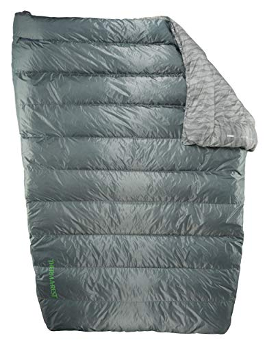 Therm-a-Rest Vela 2-Person Puffy Down Camping Quilt, 32 Degree, Storm, Full