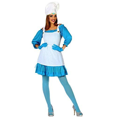 ATOSA disfraz duende azul mujer adulto M