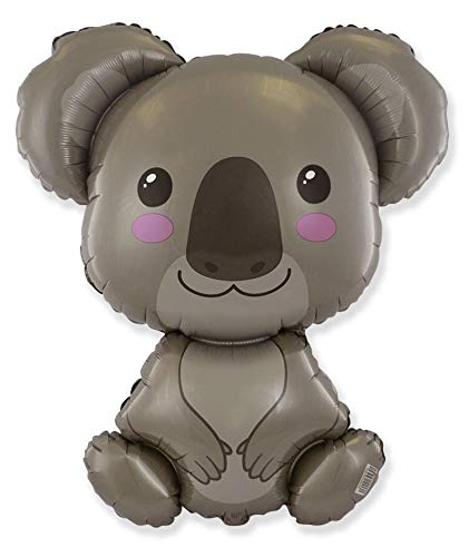 Ballonim Luftballon Koala Baby - XXL Riesenballon ca. 80 cm - Dekoration zum Geburtstag - Folienballon Happy Birthday Deko
