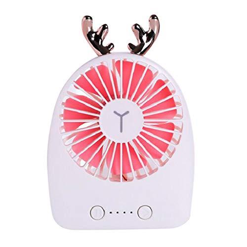 Mini Ventilateur à Pile USB Ventilateur Portable Avec 3 Vitesses Du Vent - Ventilateur portatif de ventilateur de ventilateur pour Poussette,Camping,Bureau,Voiture
