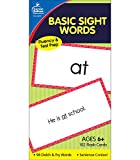 Carson Dellosa Basic Sight Words Flash Cards—Double-Sided, Grades 1-3 Dolch and Fry Words With Sentence Context, Reading Comprehension Practice Set (102 pc)