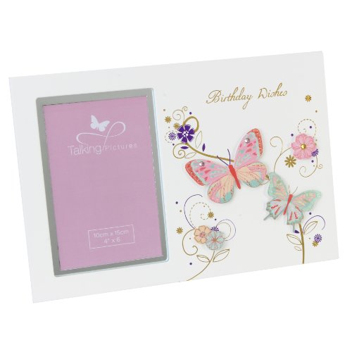 Talking images Sorbet coll MDF Cadre photo 15,2 x 10,2 cm – Birthday Wishes