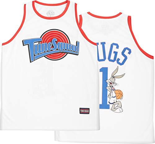 space jam Mens Basketball Jersey- Tune Squad, Monstars Jerseys (Medium, Tune Squad) White