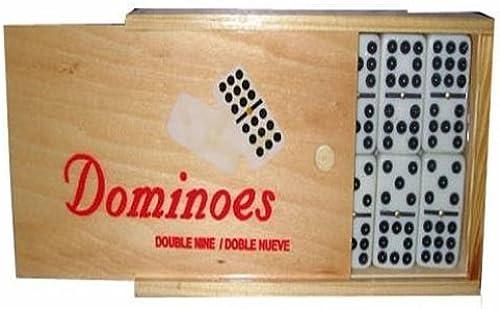 Los mejores precios y los estilos más frescos. Bene Casa Double Nine Domino Set with Wooden Case Case Case by Bene Casa  ventas calientes