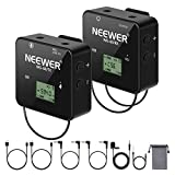 Neewer 57-Channel UHF Wireless Lavalier Microphone System with Receiver, Transmitter...