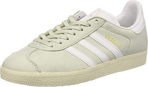 adidas Gazelle, Sneaker Donna, Verde (Linen Green/Footwear White/Cream White), 36 EU