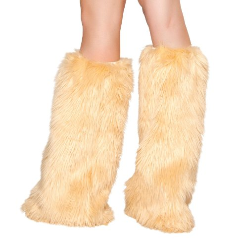 Roma Costume Faux Fur Boot Covers, Camel, One Size