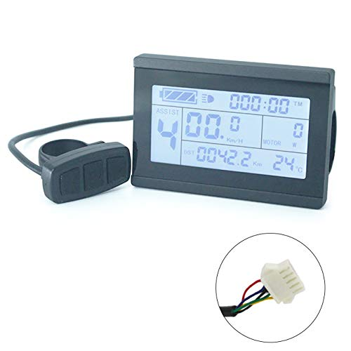 bmc-tech Display Board Computer KT-LCD3 velocímetro 24V 36V 48V ebike bicicletta electrica