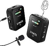 SYNCO G2(A1) 2.4Ghz Microfono-Lavalier-Wireless-Fotocamera-Smartphone, Microfoni Senza Fili Professionale con Schermo TFT Compatibile per iPhone/Android, DSLR Reflex, Videocamera, Tablet