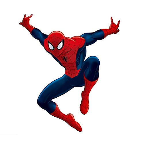 3D Effect Hollywood Comics Movie Superhero Spider Action Cartoon Man Wall Sticker PVC Art Decal Boy Kids Nursery Bedroom Living Room Home Decor Mural