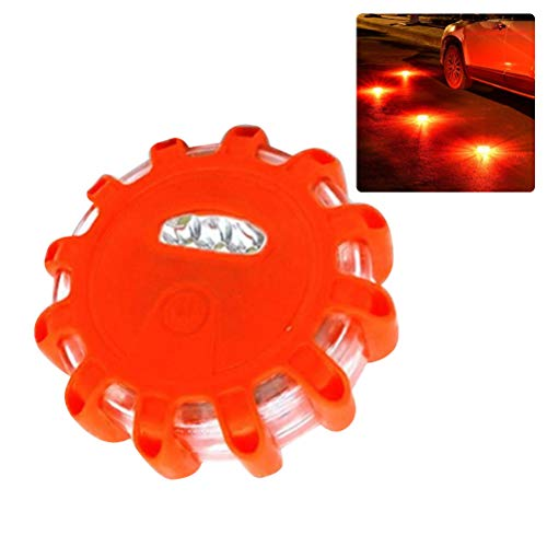 LED Warnlicht, Warnblinkleuchte 3er LED Leuchten Batteriebetrieben Warnblitzer Notfall Warnsignal Licht für Auto und Fahrrad, Rot