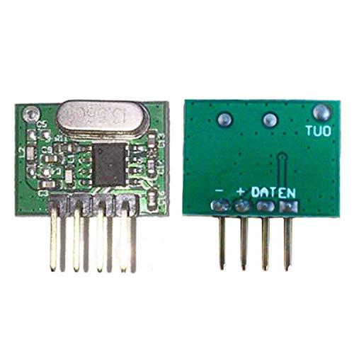 YuLinStyle 30 * 9 * 1 mm Funk-Transceiver-Modul Alarmanlage Rauchmelder-Modul 433,92 MHz...