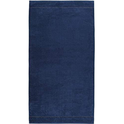 Cawö Home Carat 580 Serviette de toilette Bleu marine 80 x 150 cm