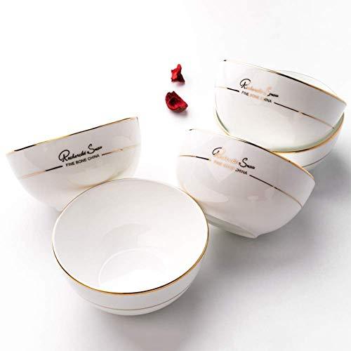 Home kitchen products - Phnom Penh Bone Chiny Ceramic Puchar tableware Ceramics Bowl | Kod towaru: LJW-50 (Size : 4.5 inch)