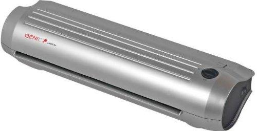 Genie LA500 A4 Heiß und Kalt Laminiergerät (bis DIN A4, Inkl. Laminerfolien) silber/schwarz