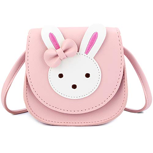 KEREDA Bolso bandolera para niños y niñas, bonito conejo, de piel sintética...