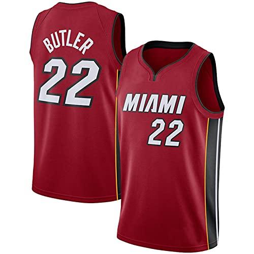CGXYHLZ Camiseta de Baloncesto de la NBA para Hombre, Camiseta de Baloncesto de Jimmy Butler de Miami Heat # 22, Jersey de Baloncesto de Malla Bordada de City Edition Jersey