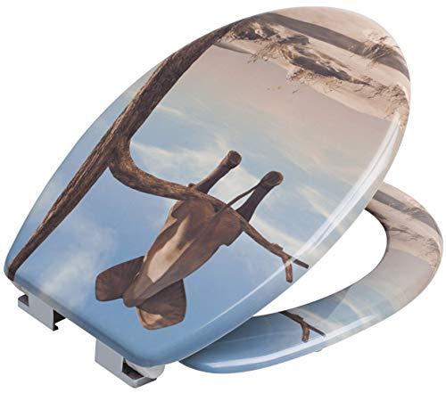 Dekorativer WC-Sitz mit Soft Close Automatik (Elephant auf Ast)