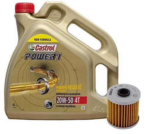 Castrol Kit Duo Power 1 Aceite de Motores 20W-50 4T 4L + Filtro Mahle OX796