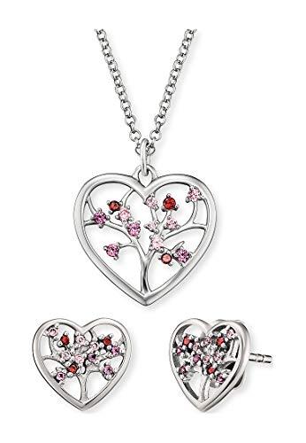 Engelsrufer Damen-Schmuck-Set Set Bloom Herz Kette mit Ohrstecker 925er Silber One Size 87847535