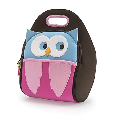 Dabbawalla Bags Kid's Lunch Bag, Insulated, Machine Washable, Owl