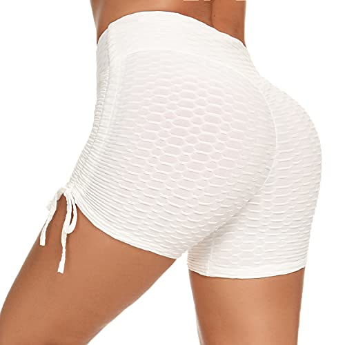 Sykooria Pantalones Cortos Mujer - Pantalon Corto Mujer Deporte Verano con CordóN Mallas Cortas Mujer EláStico Alta Cintura para Correr Gimnasio Gym Yoga