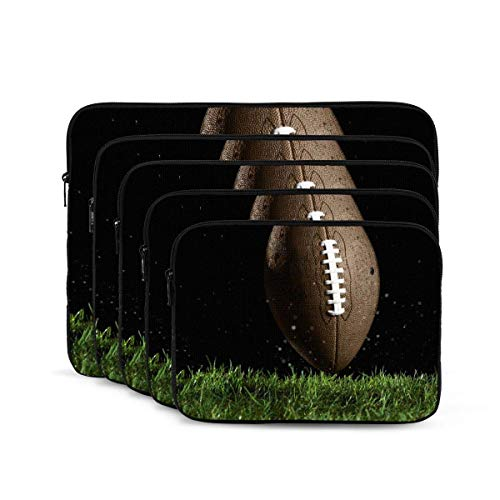 Rugby Print Laptop Sleeve, Shock Resistant Notebook Briefcase, Tablet Carrying Case for MacBook Pro/MacBook Air/Asus/Dell/Lenovo/Hp/Samsung 17 inch