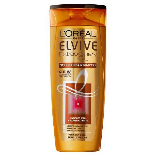 L'Oréal Elvive Extraordinaire Shampooing à l'huile Overdry 250 ml Etui de 4
