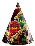 Procos- Sombreros De Papel Compostable Lego Ninjago, Multicolor (10232193)