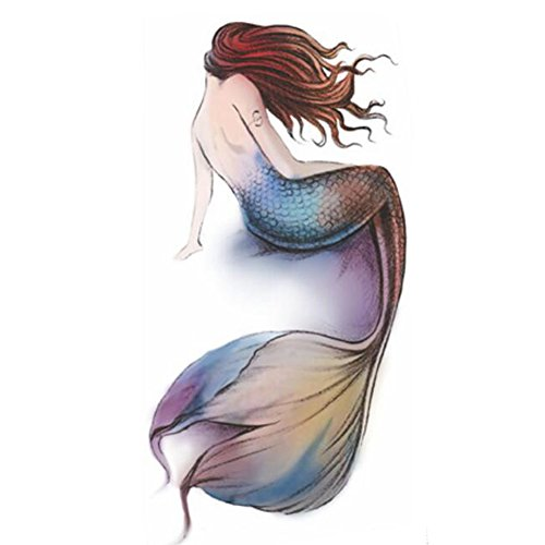 Creative/Sexy Tatouages Temporaires Waterproof Autocollants Mermaid